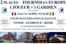 Joueurs Bantam - 2 places pour l'Italie