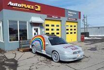 Le Garage Autoplace Denis Réparations dévoile sa voiture :¨Ça va bien aller!¨