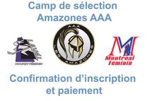 Confirmation d'insciription et paiement - Camps AAA Amazones