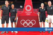 Three Quebec referees honoured by Canada Basketball for their participation in the Olympic and Paralympic Games