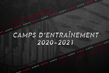 Horaire mois d'Août- Camps Entraînement de nos Sélects du Nord 2020-2021