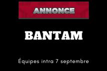 Équipes Bantam