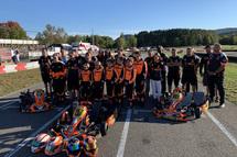 Photo du groupe TAG Motorsport-CRG Canada au circuit de karting Mont-Tremblant