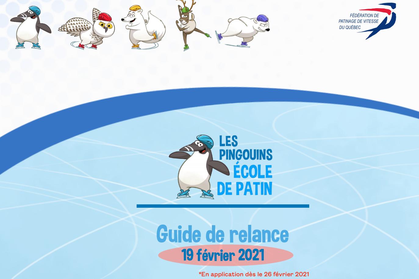 Guide de relance Les Pingouins – mise à jour
