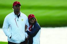 Tiger Woods et sa compagne de vie, Erika Herman, durant la Coupe des Présidents de 2017. (Getty)