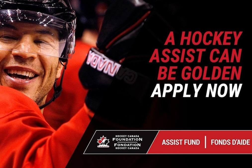 The Hockey Canada Foundation Assist Fund platform is powered by Spordle