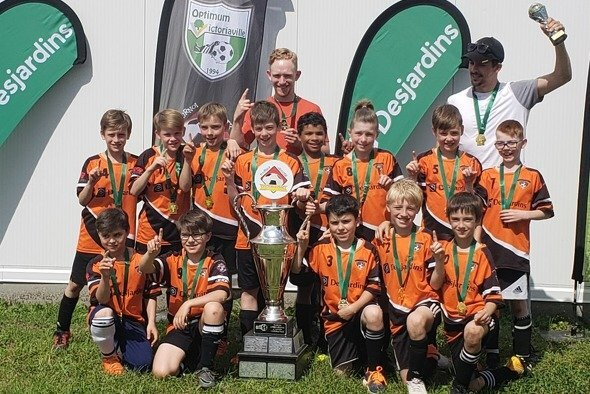 Champions du tournoi de Victoriaville