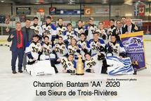 Champions Bantam AA 2020 - Sieurs Mauricie Ouest