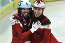 Charles Hamelin et François-Louis Tremblay aux Olympiques de Vancouver, en 2010.