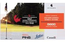 Championnat canadien de golf de l'ACSC - Visuel - Tabasko Design & Impression
