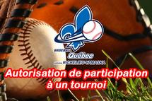 Autorisation de participation à un tournoi