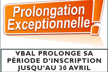 Prolongation des inscriptions