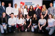 Récipiendaires 2019 du programme de bourses Banque Nationale. Jason Bégin est absent de la photo. (Crédit: Maxime Côté)