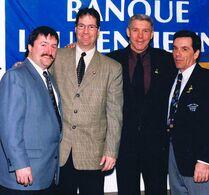 Avec Gaston Therrien et Réjean Houle