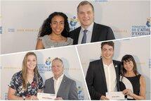 Alyson Charles, Audrey Phaneuf et David La Rue ont reçu une bourse grâce à la Fondation de l'athlète d'excellence du Québec. — Photos Groupe NH Photographes
