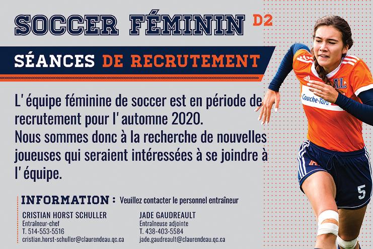 Soccer féminin, on prépare déjà l'automne !