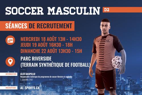 Séances de recrutement - Soccer masculin