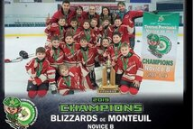 Novice B Blizzards_Champions tournoi Hull
