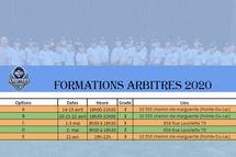 Inscriptions aux formations d'arbitres