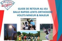 Dévoilement du guide de retour au jeu de Softball Québec