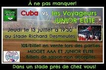 Cuba vs Voyageurs
