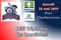 Défi triple jeu : samedi 25 mai, parc Charbonneau