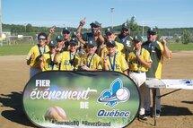 Les Élites jaunes de Lanaudière, médaillés d'or Pee-Wee AA