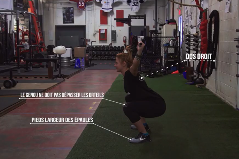 Les squats: un exercice tout indiqué pour les hockeyeurs