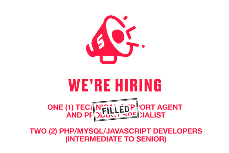 Spordle is recruiting for three full-time positions