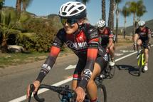 Lex Albrecht will be racing Race Across America with Team OneMile, wearing the Sena R1 Evo Smart helmet.