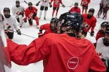 Mélodie Daoust, Ann-Renée Desbiens, et Marie-Philip Poulin seront de la formation de l'équipe nationale féminine du Canada pour la centralisation olympique