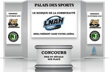 Le kiosque de la communauté LNAH à Jonquière vendredi soir