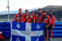 Dix Québécois ont participé aux Jeux Mondiaux des maîtres 2020 en patinage de vitesse. 1ère rangée: Guylaine Larouche (LP), Geneviève Provencher (LP et CP), Julie Houle (LP et CP), Stéphanie Poirier (CP), Yves Gagné (CP) 2e rangée: Alain Beaulieu (CP), Yan Traversy  (CP), Sylvie Maltais (CP), Martin Beaudry (CP), Alexandre Larouche (CP)