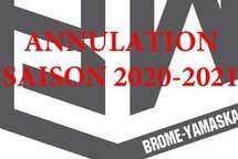 ANNULATION SAISON 2020-2021