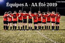 Équipes A - AA Été 2019