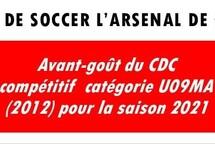 Avant-goût du CDC compétitif  catégorie U09MA (2012) pour la saison 2021