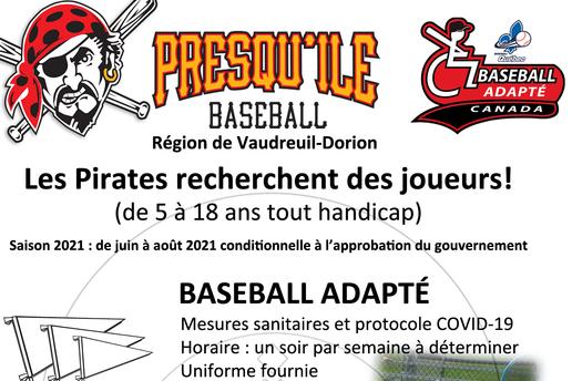 Baseball adapté - joins toi à nous !!