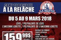 Camp de baseball de la Relâche 2018