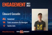 Édouard Gosselin - Crédit photo - Courtoisie de l'athlète