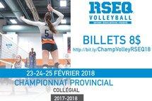 Championnat provincial de volleyball: Avez-vous vos billets?