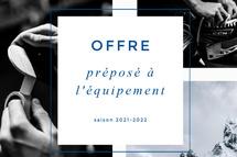 OFFRE DE PRÉPOSÉ À L'ÉQUIPEMENT