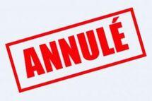 Activités suspendues ou annulées