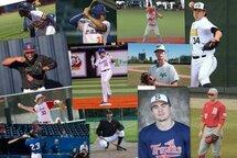 Douze baseballeurs québécois toujours en action dans les universités et collèges américains (Montage photo : Jacques Lanciault)