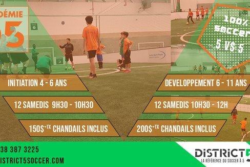 Académie D5 automne/hiver 2019/2020 : Stages d'initiation et de développement