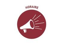 HORAIRE  DÉBUT DE SAISON 2021-2022