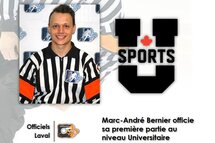 Un premier match dans le circuit Universitaire canadien U-Sports pour Marc- André Bernier