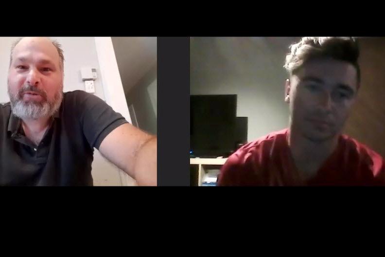 Entrevue de Tino Rossi avec le #10 Christopher Séguin