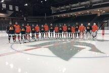 L'équipe de hockey masculine-Crédit photo-Claude Morin