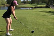 Audrey Paradis, 21 ans, joue au golf depuis 11 ans. (Photo: famille Paradis)