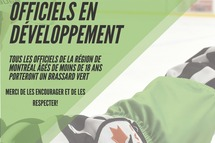 Hockey Québec Région Montréal: Un brassard vert pour les arbitres mineurs